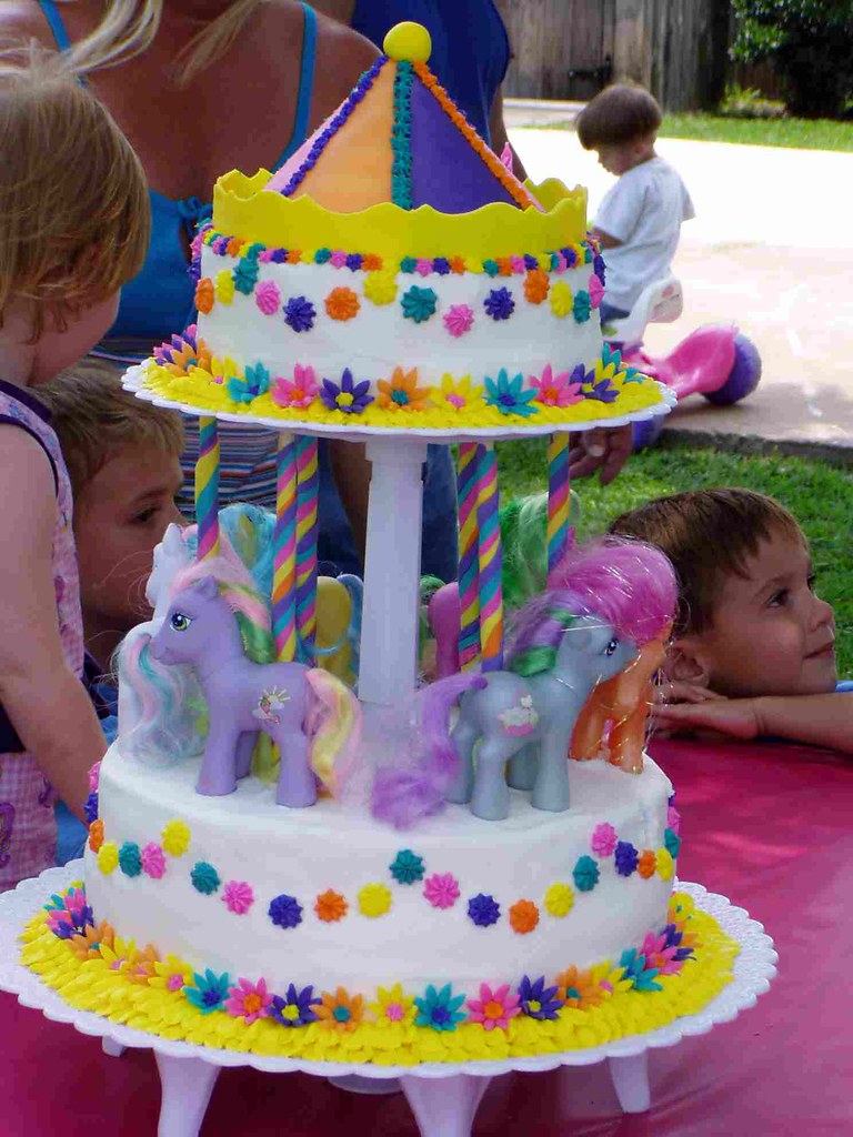 Awesome My Little Pony Cake My Daughters Second Birthday Cake My Flickr Funny Birthday Cards Online Ioscodamsfinfo