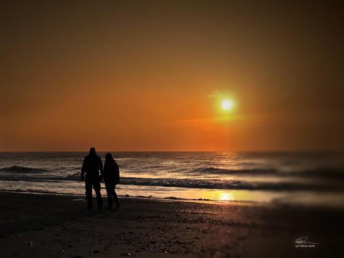 ocean sunset love beach water sunrise couple northcarolina