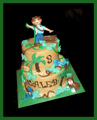 Outstanding Diego Birthday Cake For Caleb Atasteofwhimsy Flickr Personalised Birthday Cards Epsylily Jamesorg
