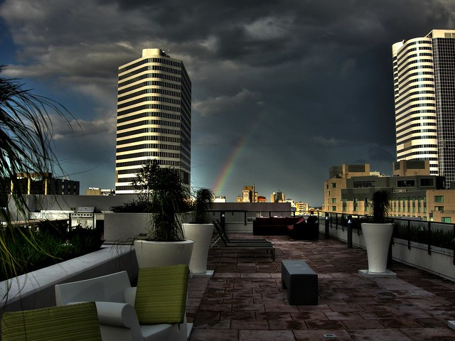 Rainbow on Rooftop