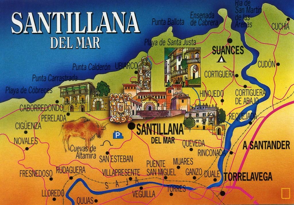 Santillana Del Mar Mapa.Santillana Del Mar Map Card Spanish Forum Map Cards Rr