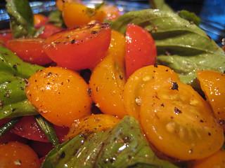 Delicious home-grown garden tomato salad   by gserafini