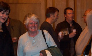Andrew's mum and, in the background, some likely lads