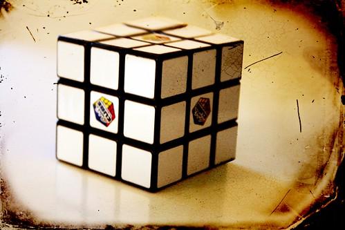 White Rubik's Cube   by @Doug88888