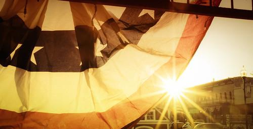 sunset flag smalltown townsquare granbury
