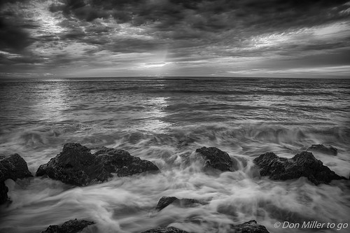 beachlife blackandwhitephotography hdrphotography nature blackwhite longexposure hdr caspersenbeach 3xp seascapes waves slowwater sky outdoors bwphotography bw d810 rocks florida