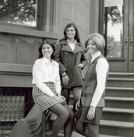 Yearbook Portraits, 1970 (05) - Ellen Farrel (seated), Debbie Ambrose (center) and Pat Piacente
