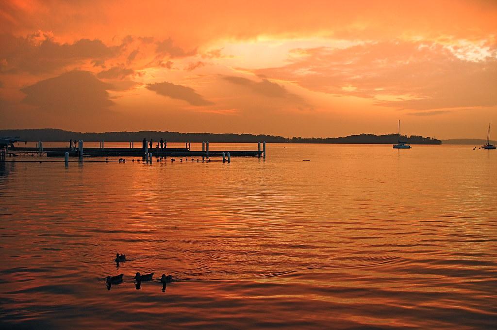 Wild Sunset Over Pier by nataraj_hauser / eyeDance