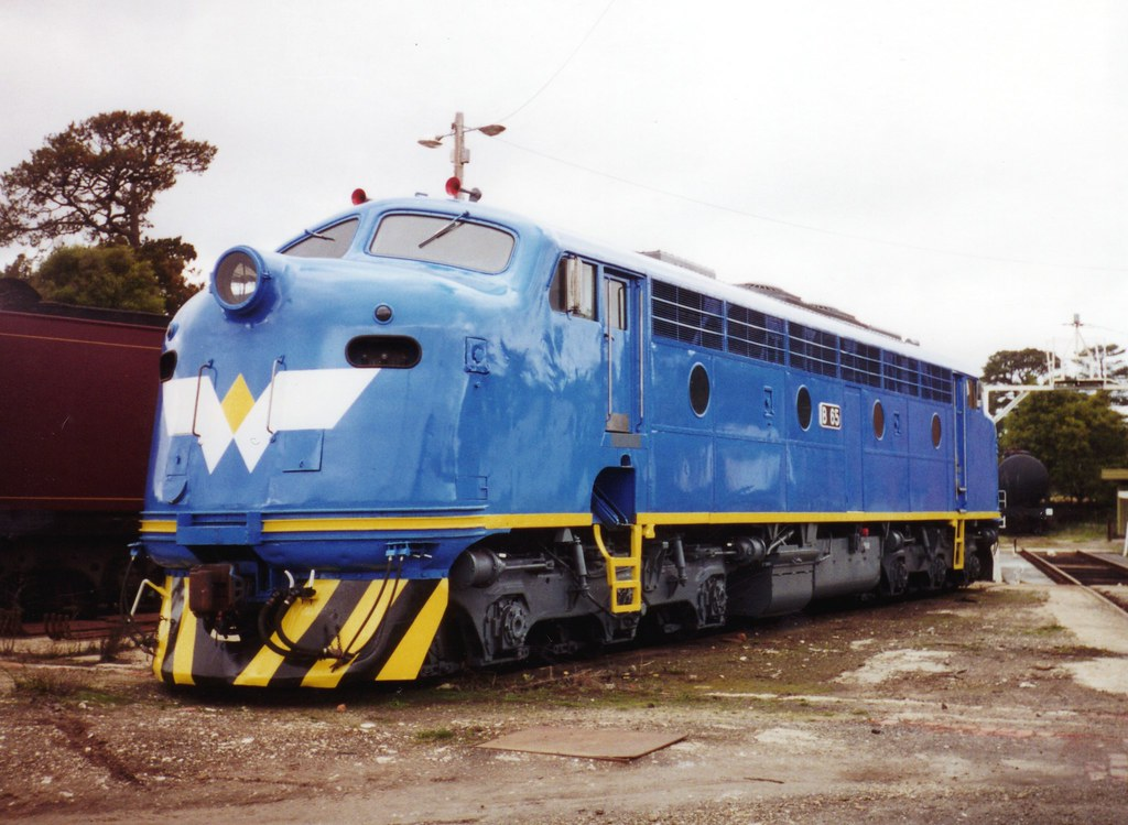 B65 with a non standard WCR livery at Ballarat east workshops by zed.fitzhume