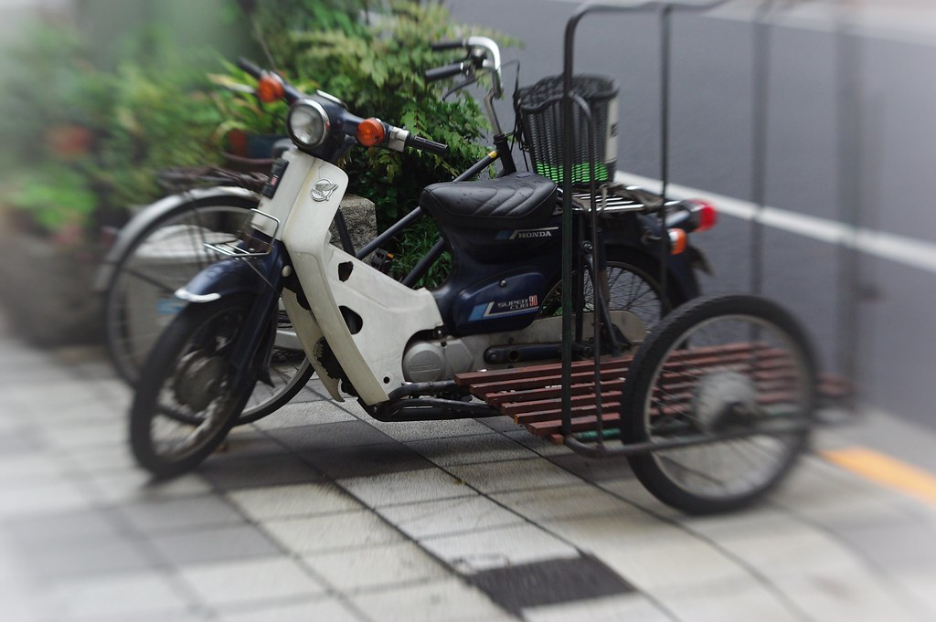 Sidecar | Honda super-cub equipped with sidecar for business… | Flickr