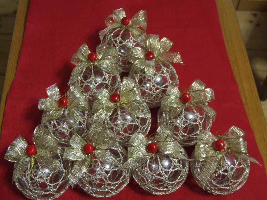 Palline Di Natale Alluncinetto Annamaria Tschek Flickr