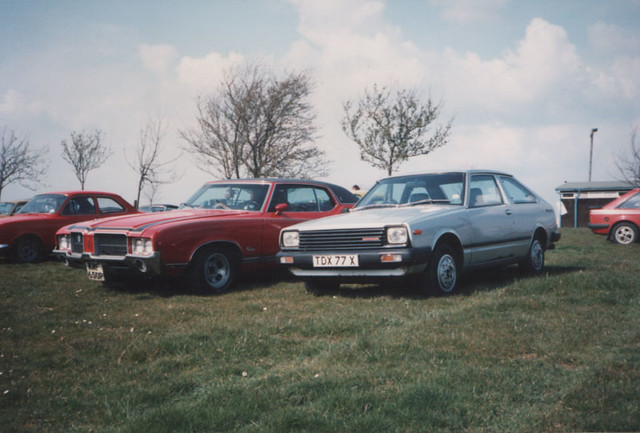 1981 Datsun Cherry and 1971(?) Oldsmobile Cutlass