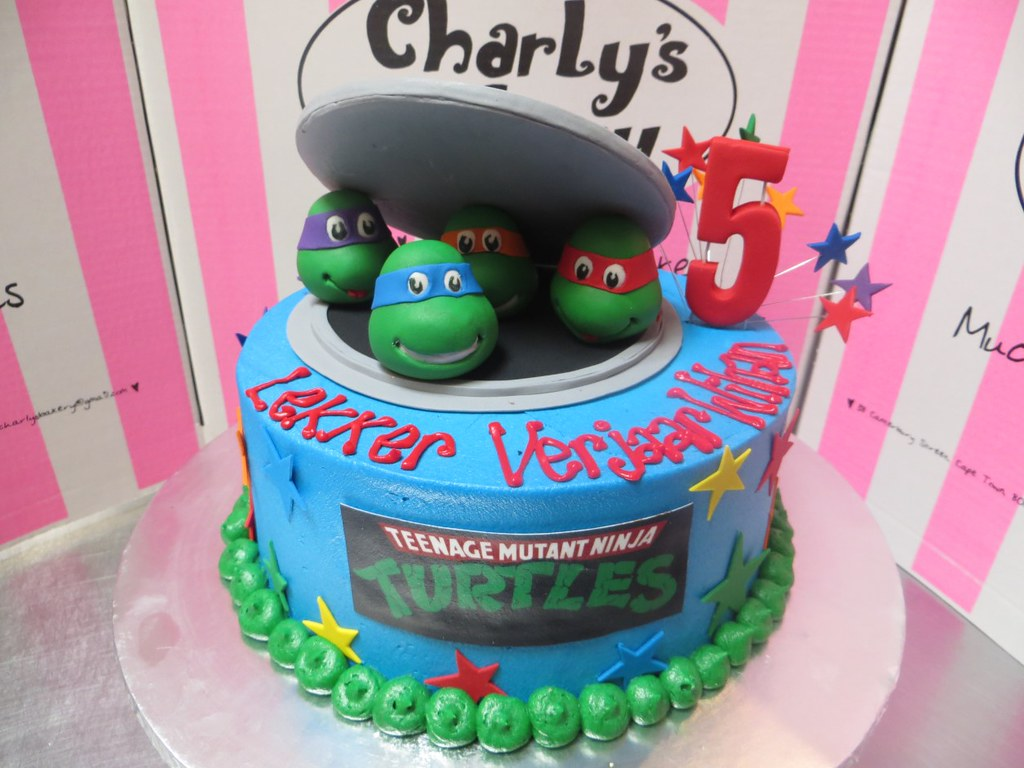 Phenomenal Ninja Turtles Themed Birthday Cake Charlys Bakery Flickr Birthday Cards Printable Inklcafe Filternl