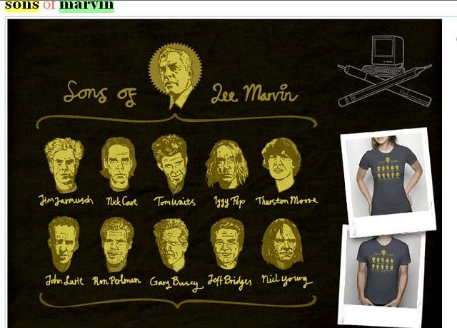 Unique Lee Marvin Hommage T-Shirt