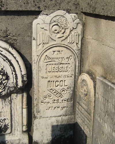 Jessie Nicol - buried 1863 at the  Mellor Cemetery, Southwold, Elgin, Ontario, Canada | by Elgin OGS