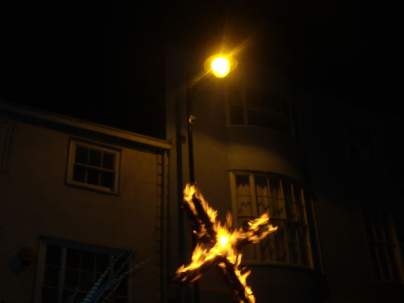 Burning cross Lewes circular via Rodmell Lewes bonfire night