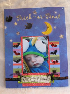 Caleb's 1st Halloween scrapbook page | by luvmibug