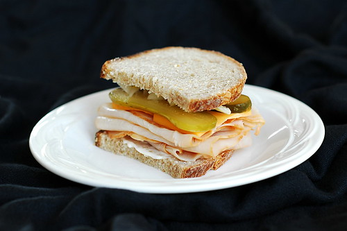 Turkey sandwich on wheat | by fd