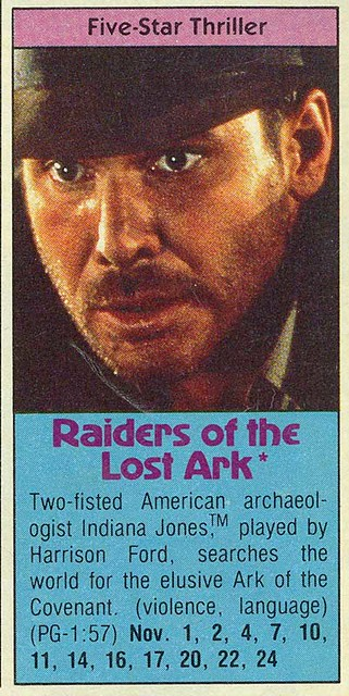 1984 Premium Channels Guide Raiders Entry | Todd Franklin | Flickr