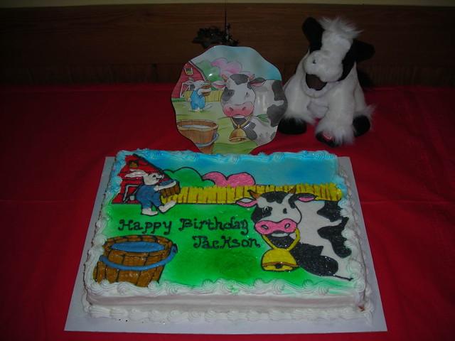 Enjoyable Barnyard Birthday Cake I Did This Cake For A Friend At Wor Flickr Funny Birthday Cards Online Inifodamsfinfo