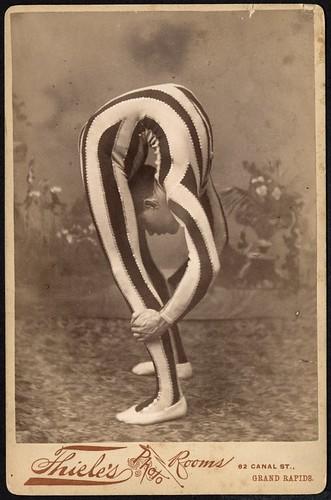 Contortionist, posed in studio   by George Eastman Museum