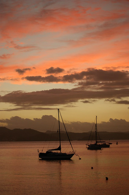 Lovely sunset Russell NZ