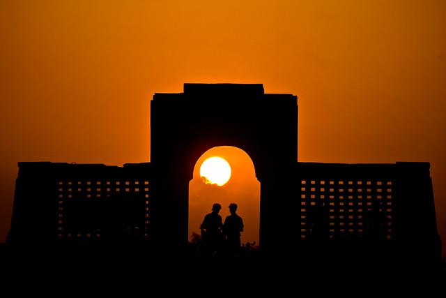 Sun sets Via the Karl Schmidt Memorial