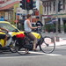 Bicycle Commuting: Old school bike with panniers