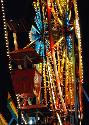 carnival blue atlanta red summer usa colors yellow night dark georgia lights lowlight nikon ride south roswell perspective highcontrast august pointofview southern exposition ferriswheel bigwheel gondolas lowangle onblack artcafe d80 expowheel colorphotoaward peachtreerides superperfectphotographer