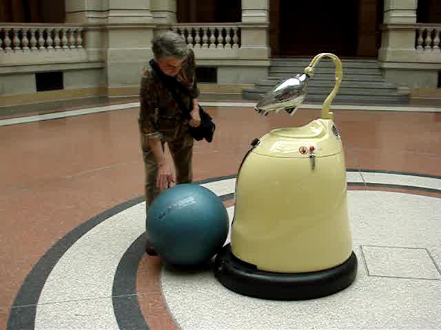 L'espace des robots du musée de la communication à Berlin