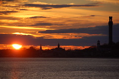 Provincetown: Sun setting over downtown by Chris Devers