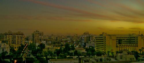 sunset egypt cairo heliopolis