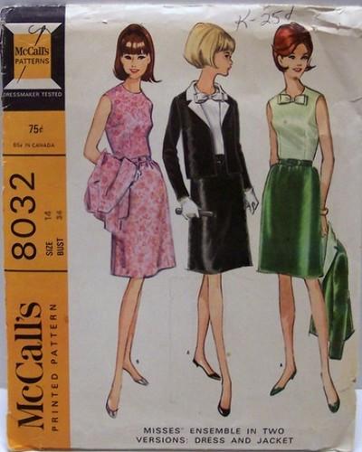 Vintage McCalls Pattern 8032 UNCUT and FACTORY FOLDED Jack