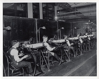 Row of Postal Clerks Processing Mail | by Smithsonian Institution