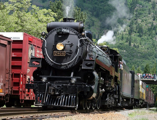 Castlegar BC Steam Train 150 year celebration