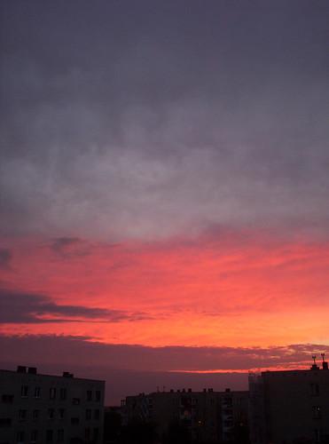 sunset sky clouds view balcony zachód kielce chmury niebo slichowice