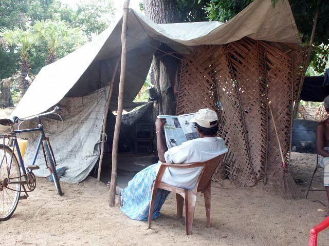 makeshift shelter