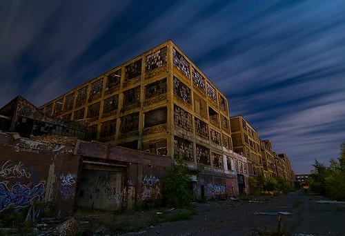 plant abandoned night michigan detroit motors packard
