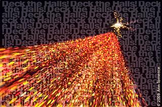 Textorizing around the Christmas tree