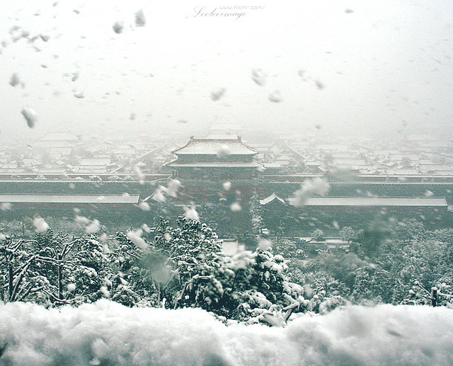 Forbbiden City in a Blizzard