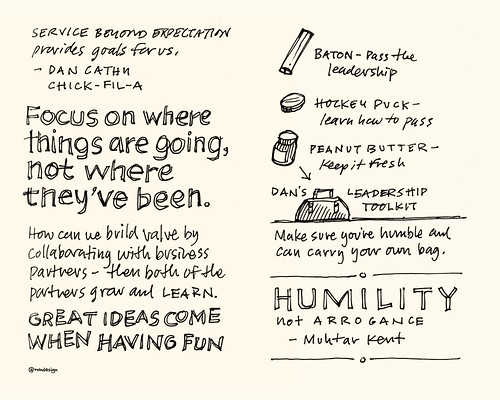 Chick-Fil-A Leadercast Sketchnotes 29-30 - Can Cathy & Muhtar Kent | by Mike Rohde