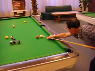 Playing Billard. Pyongyang, North Korea.   by (stephan)