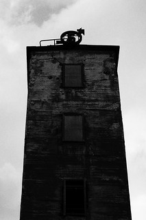 Headframe sign (with pigeon) | by Explorer Björn