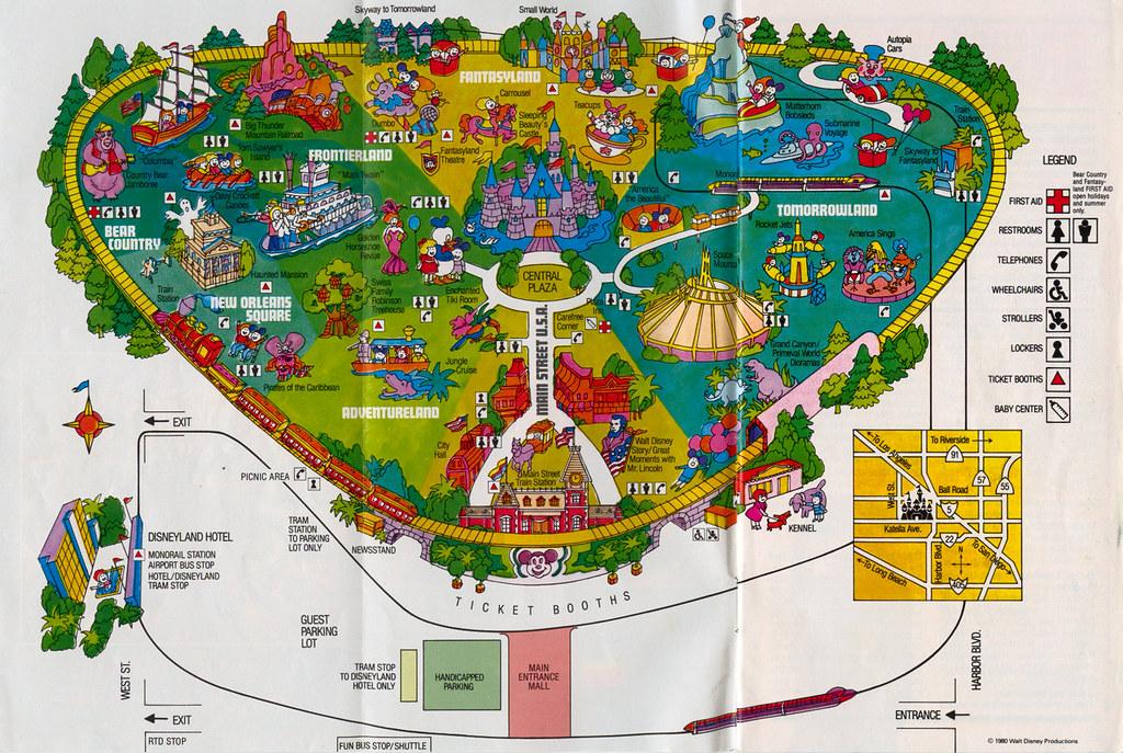 Disneyland Park Map 1981   A scan of the 1981 Disneyland Par ... on disneyland hotel map, tomorrowland map, 1981 disneyland map, theme park map, printable disneyland map, tokyo disneyland map, disneyland transportation map, epcot map, original disneyland map, six flags great america map, disneyland florida map, disneyland area map, disney map, animal kingdom map, disneyland parade map, tokyo disneysea map, disneyland parking lot map, magic kingdom map, universal studios map, hong kong disneyland map,