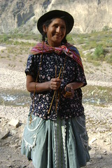 Wonderful woman stopped to chat on Huancayo-Ayacucho road