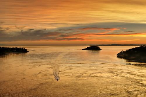ocean sunset sea vacation sky orange sun water landscape outdoors gold evening boat washington nikon searchthebest pacific northwest silhouettes pacificnorthwest wa pnw soe d300 naturesfinest blueribbonwinner deceptionpassbridge supershot deceptionpassstatepark multimegashot 2008reunionnature