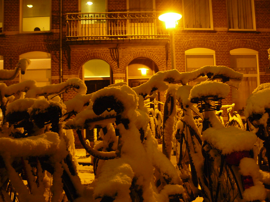 Bikes in the Snow 2