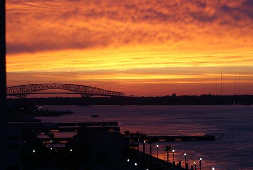 sunrise florida jacksonville redsky riverwalk stjohnsriver jacksonvillefl hartbridge 1on1sunrisesunsets