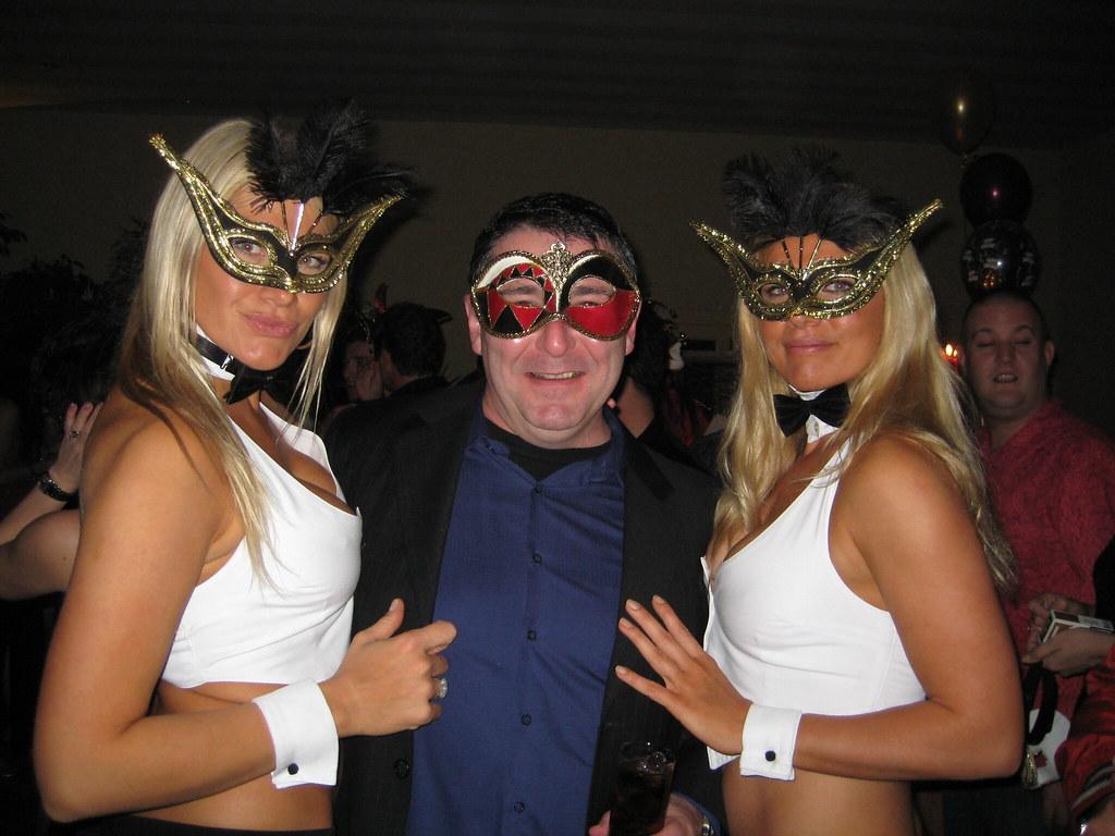 Party shut eyes white The David