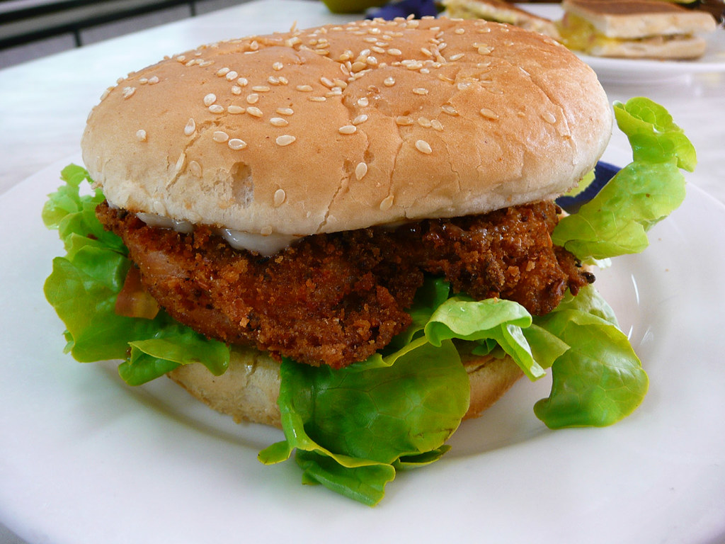 Chicken Schnitzel Burger My Lunch From 88 Royal 24 4 2008 Flickr